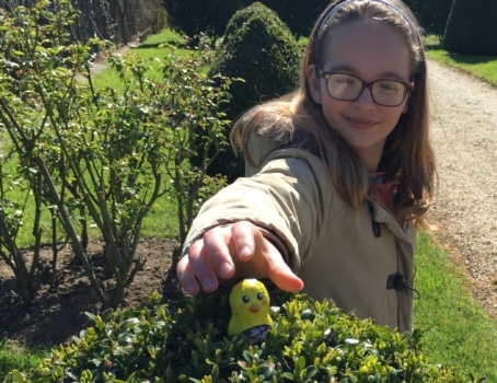 Easter egg hunt in France Pâques