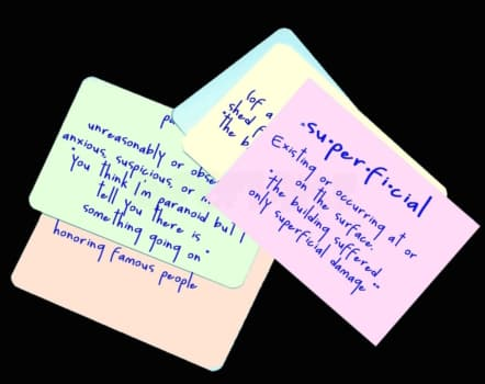 how to make french flashcards