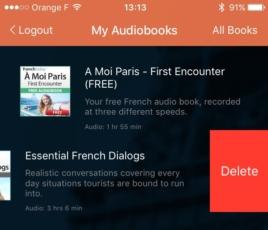 delete iOS app