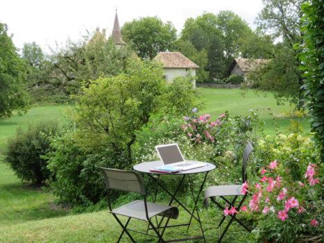 learn french at teacher's in switzerland garden