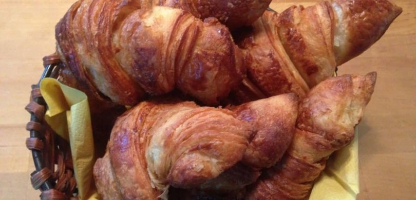 "The best croissants ever! At ""La Fournée"" bakery, in Paimpol!"