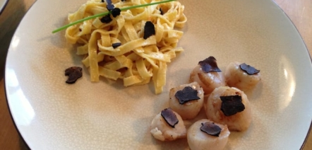 Scallops with Truffle Recipe Photo
