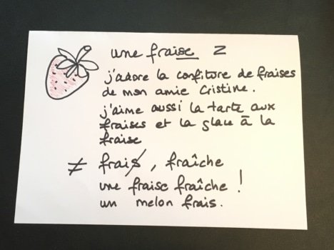 How to make flashcards to study French