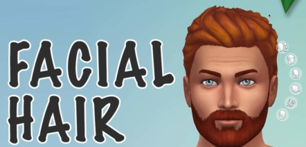 learn french with popular videogame The sims facial hair beard moustache french vocabulary