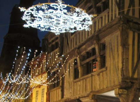 Christmas lights in France