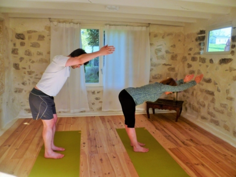 learn french yoga class in france bilingual practice