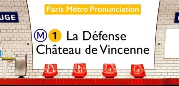 Paris Métro Line 1 Stations Pronunciation