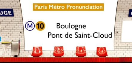 Paris Métro Line 10 Stations Pronunciation