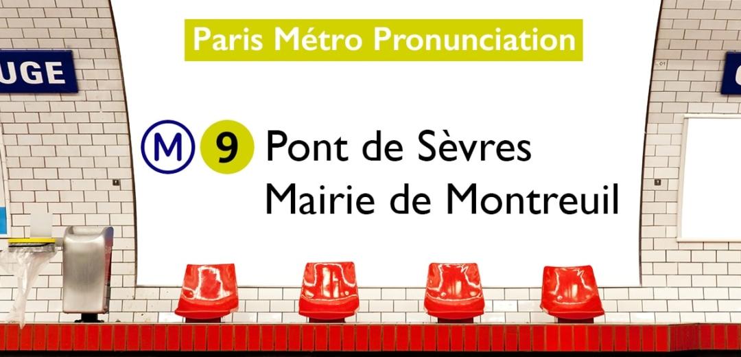 Paris Métro Line 9 Stations Pronunciation