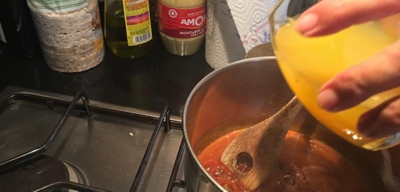 orange duck caramel sauce learn french