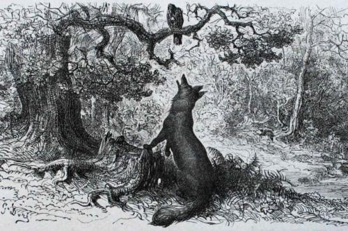 Le corbeau et le renard - Jean de La Fontaine Le-corbeau-et-le-renard-french-poem-reading-analysis-500x333