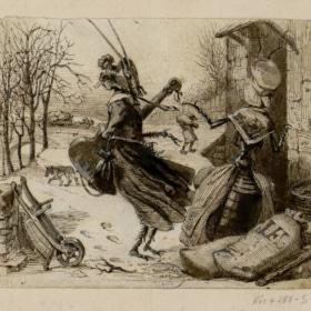 """Famous French Poem """"La Cigale et la Fourmi""""Jean de La Fontaine"""