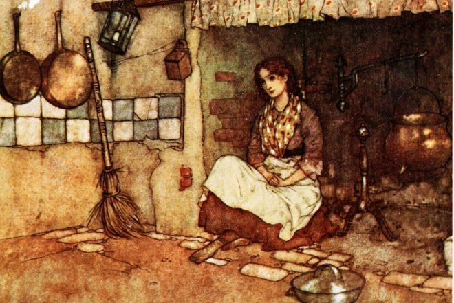 cinderella in the fireplace