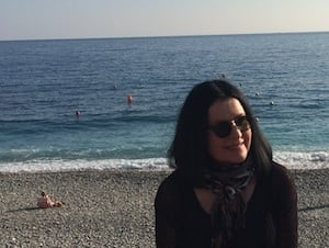 student on the beach Immersion Homestay + French lessons in Nice, France
