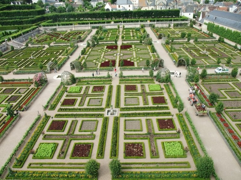 the French castle and gardens of Villandry
