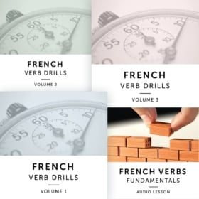 Product image: French Verb Drills Audiobook Bundle