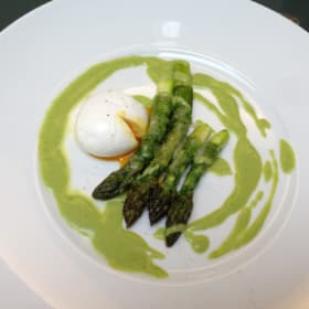 Roasted Green Asparagus and Egg Recipe