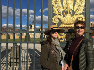 Linda and Rebekah  learn french immersion france