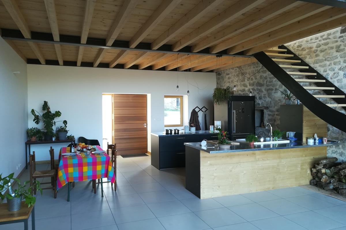 French teacher's house living room