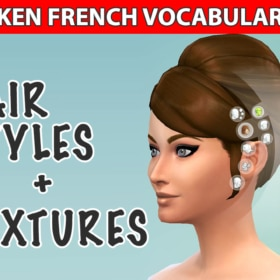 French Vocabulary – Hair Styles and Textures + Video