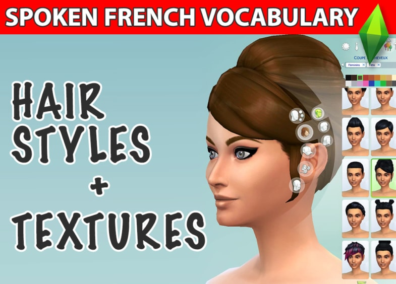 french hair styles vocabulary learn french with the sims video