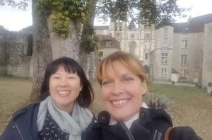 chantal & Jocelyne immersion student in France paris