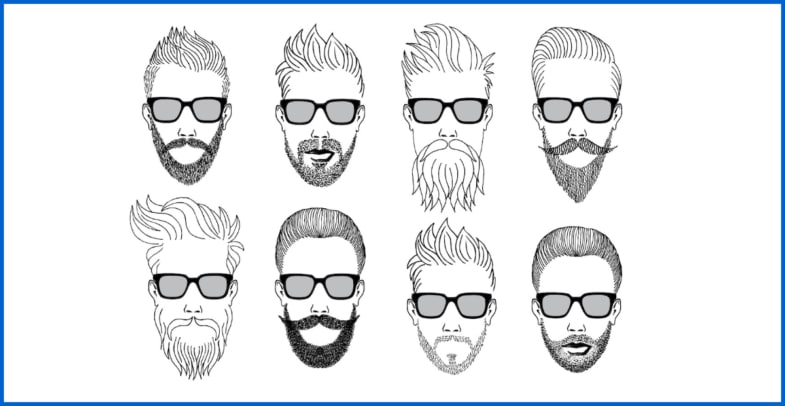 pictures of beards and moustaches French