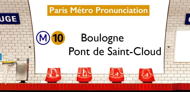 Paris Métro Line 10 Stations Pronunciation