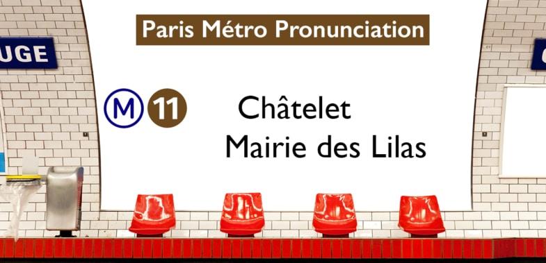 Paris Métro Line 11 Stations Pronunciation