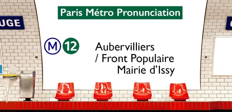 Paris Métro Line 12 Stations Pronunciation