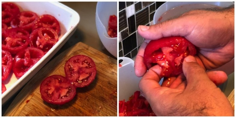 Removing seeds - tomato sauce jars