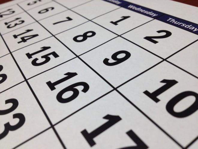 calendar next thursday