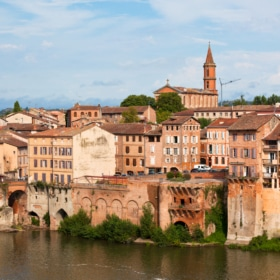 Old town of Albi, France