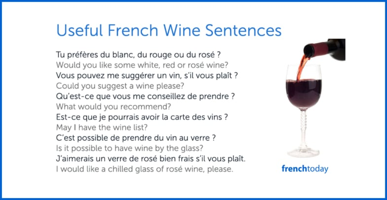 Wine sentences in French and English