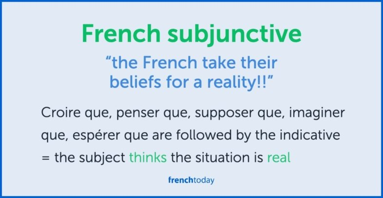 French subjunctive is subjective