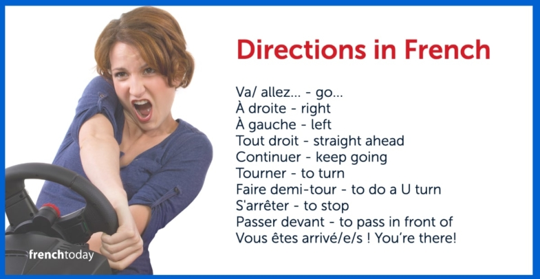 Directions in French