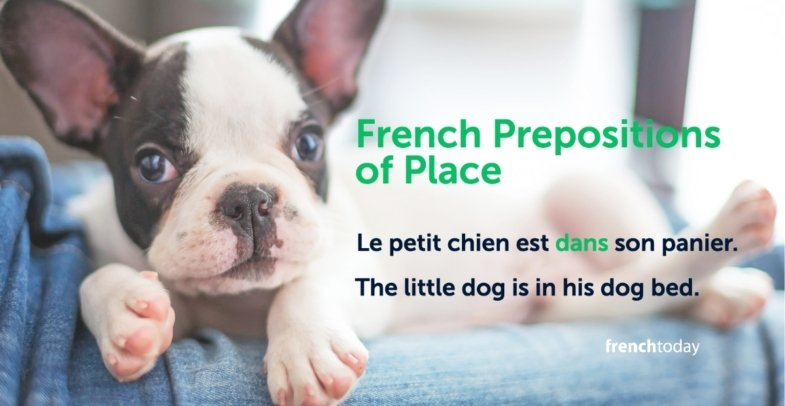 French prepositions of place