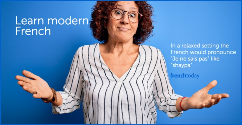 book french vs spoken pronunciation