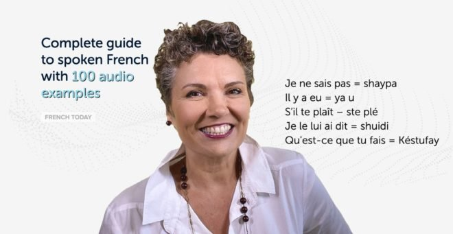 camille and french phrases written in spoken french pronunciation