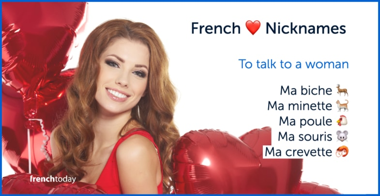 French love nicknames woman free lesson