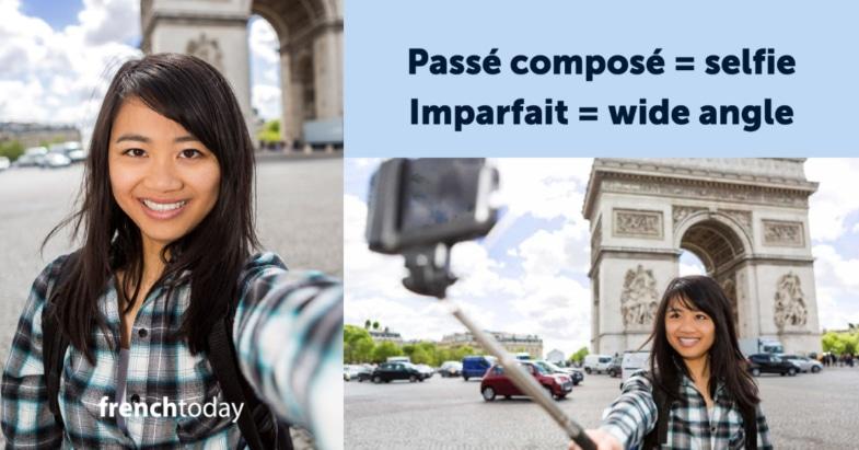 passé composé = selfie / imparfait = panorama