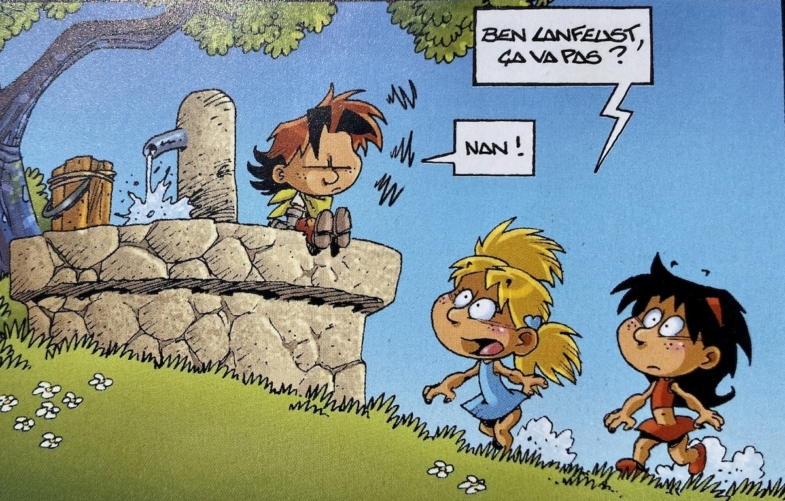 picture from a French comic book