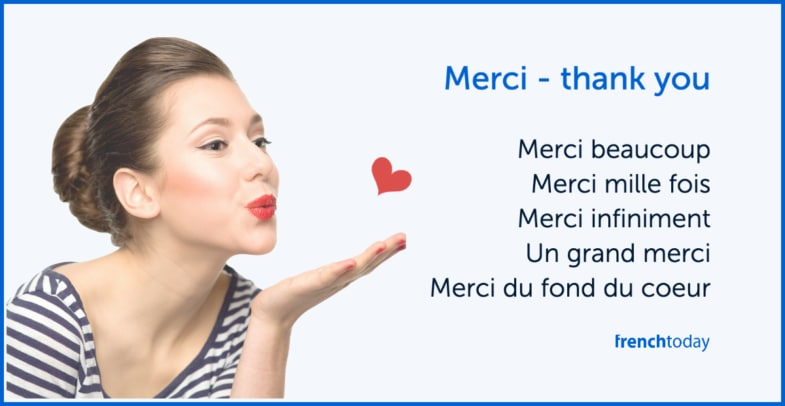 expressions to say thank you in french