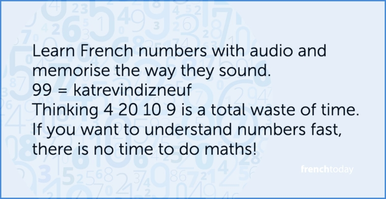 french numbers audio lesson