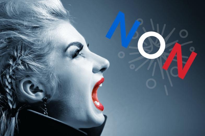 woman screaming non