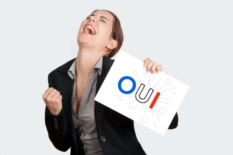 yes in french oui