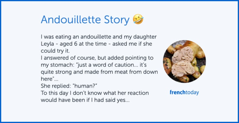poster: a fun story about French andouillette