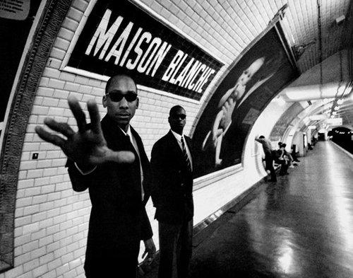 "photo pun on paris subway station ""maison blanche"""
