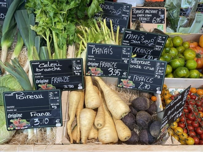 vegetables with French names