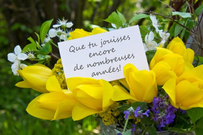 flowers and a very bad French translation